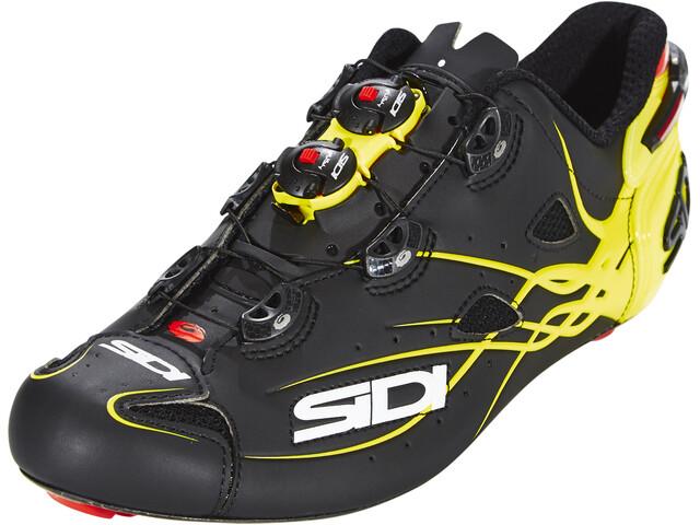 Sidi Shot Shoes Herre matt black/yellow fluo